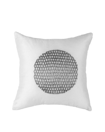 Moon Sphere Pillow, White/Silver, 18 x 18As You See