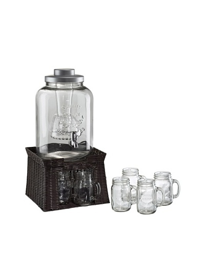 Oasis Beverage Jar 3-Gallon Dispenser w/ Chiller, Infuser & 6 Mason Jars