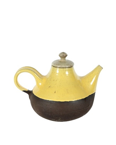 Mid-Century Henrik Ditlev Teapot, Yellow/Brown