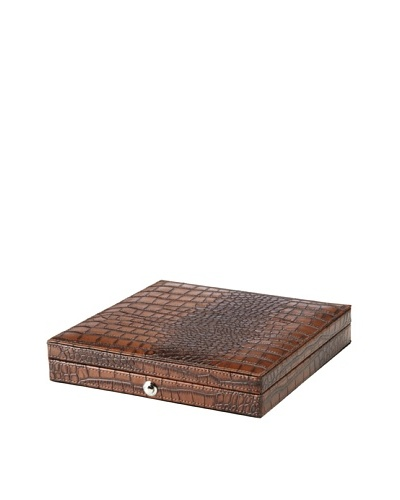 Leather Travel Cigar Humidor, Brown