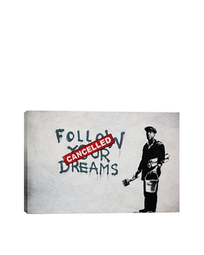 Banksy Dreams Cancelled Canvas Print