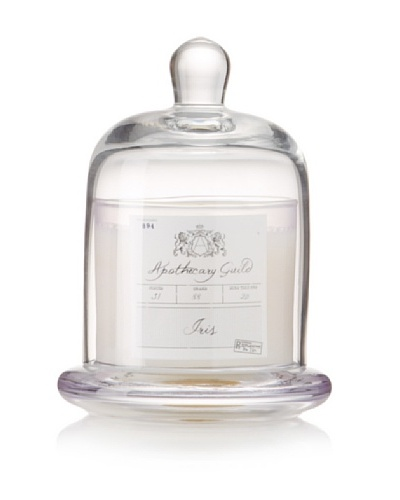 Apothecary Guild Candle Jar with Glass Dome, Iris, Small
