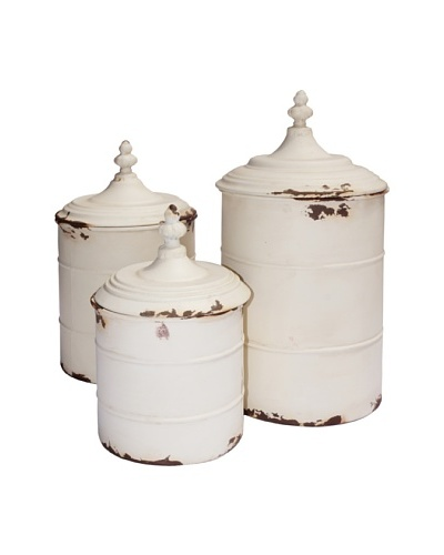 Canister Set, Antique Cream