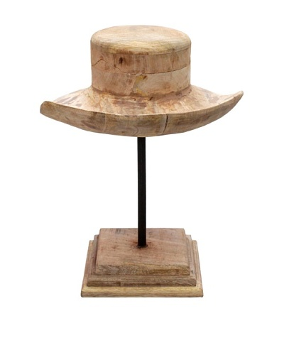 Wyatt, Wood Hat Mold, Tan