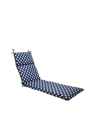 Waverly Sun-n-Shade Solar Spot Pool Chaise Lounge Cushion [Navy/Cream]