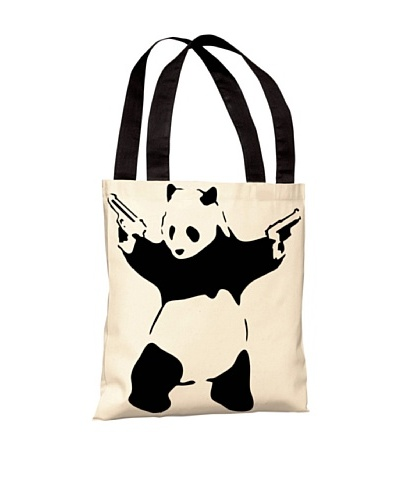 Banksy Panda with Guns Tote Bag