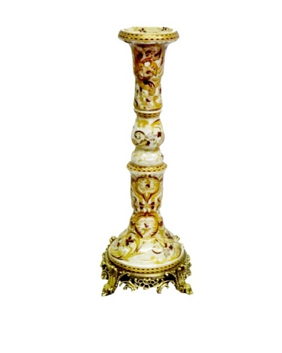 Gold Tapestries Design Ormolu Candlestick Holder