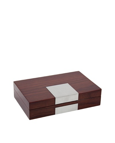 Lacquered Wood Valet, Brown