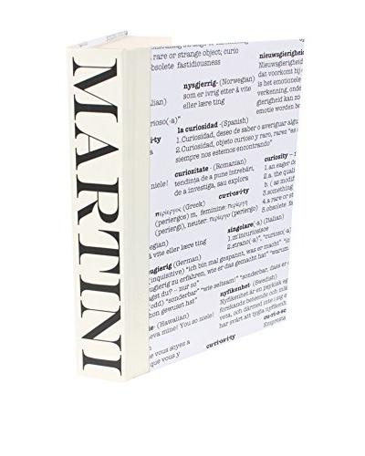 Image Collect Martini Curiosity Covered Book, Black/Cream