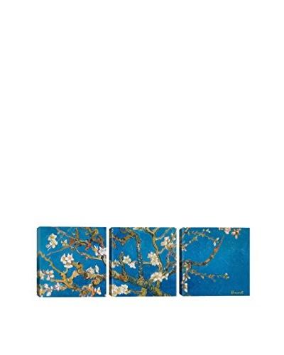 Vincent Van Gogh Almond Blossom (Panoramic) 3-Piece Canvas Print
