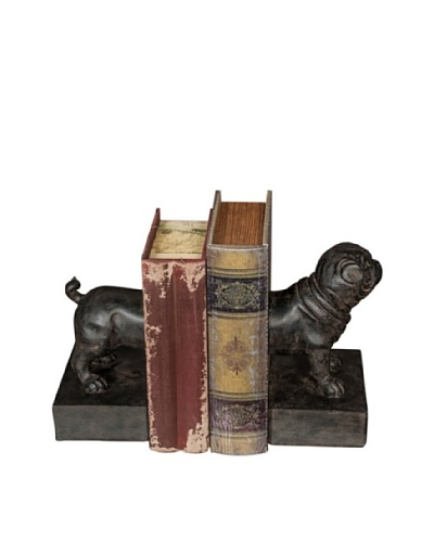 Set of 2 Resin Dog Bookends