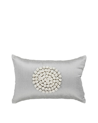Knots Rectangle Pillow, Silver/White, 12 x 18As You See