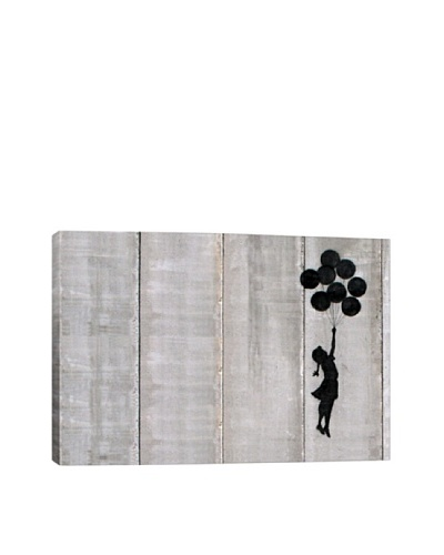 Banksy Flying Balloons Girl Canvas Print