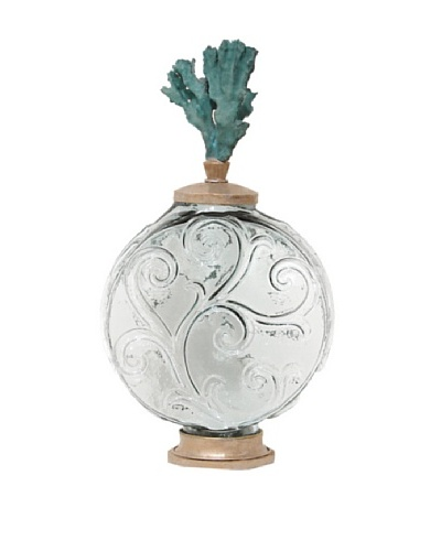 Coral Top Scroll Bottle