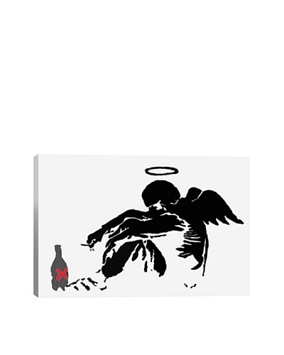 Banksy Drunken Angel #1 Canvas Print