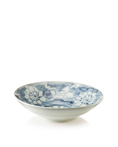 Soft Blue Floral Platter 18