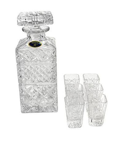 Crystal Glass decanter with set of 6 glasses, Crystal Glass