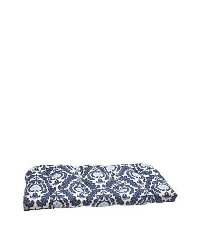 Waverly Sun-n-Shade Meridian Pool Wicker Loveseat Cushion [Navy/Aqua/Cream]