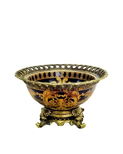 Versace Pattern Round Ormolu Bowl