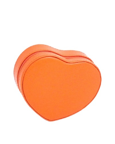 Heart Shaped Travel Jewelry Storage, Orange