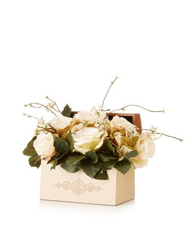 Rose Hydrangea Vine Latch Box
