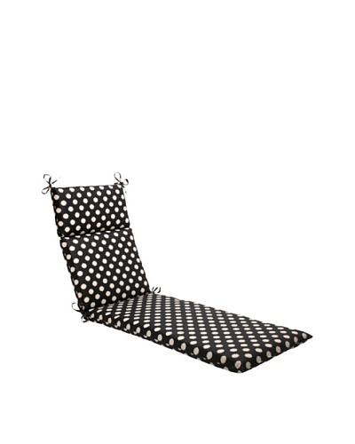 Waverly Sun-n-Shade Solar Spot Ebony Chaise Lounge Cushion [Black/Cream]