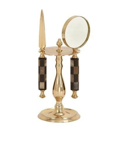 Brass Magnifier Set