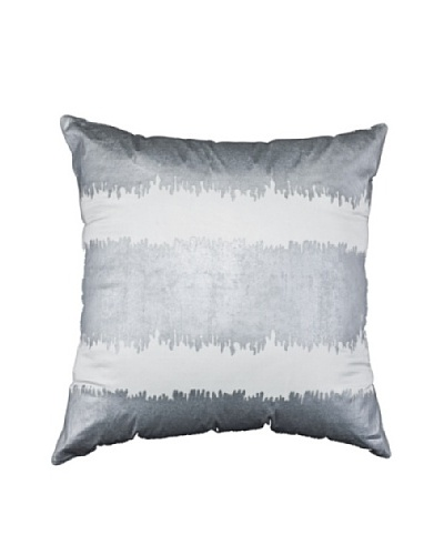 Wash Lounge Pillow, Silver/White, 21 x 21As You See