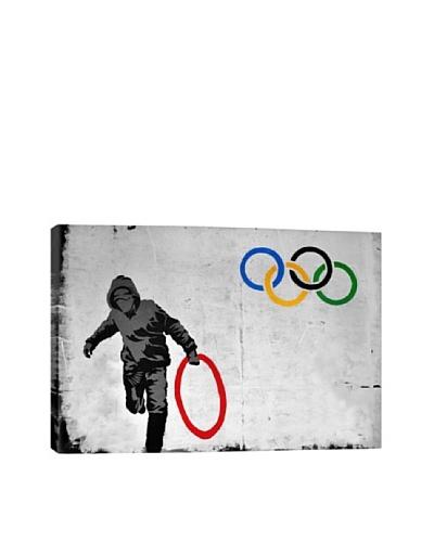 Banksy Olympics Stolen Ring Street Art Canvas Print