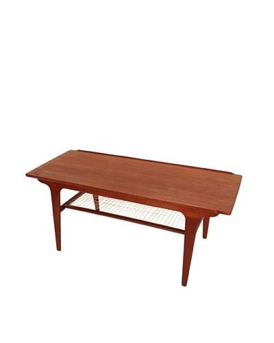 Danish Teak & Rope Coffee Table, Brown