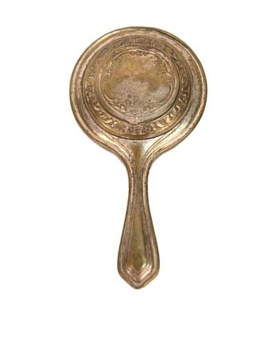 Vintage Hand Mirror, c1930s, Gold/Bronze