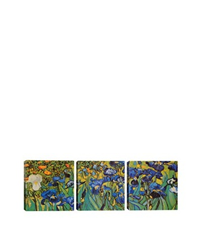 Vincent Van Gogh Irises (Panoramic) 3-Piece Canvas Print