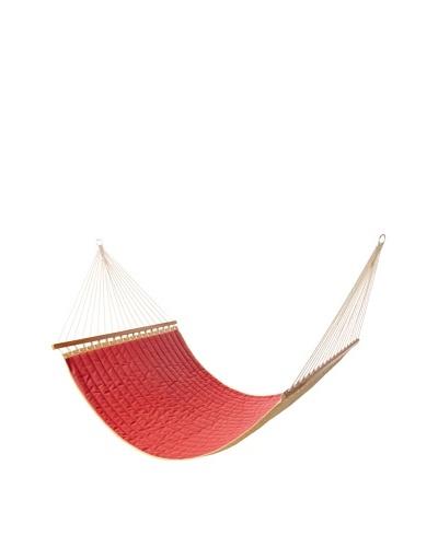 Vivere Sunbrella Quilted Double Hammock [Dupione Crimson]