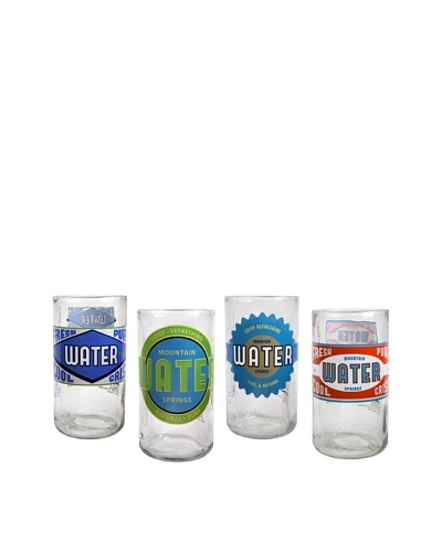 Set of 4 Upcycle 12-Oz. Spring Water Glasses