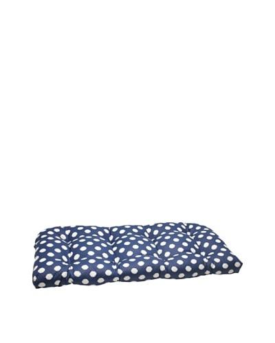 Waverly Sun-n-Shade Solar Spot Pool Wicker Loveseat Cushion [Navy/Cream]