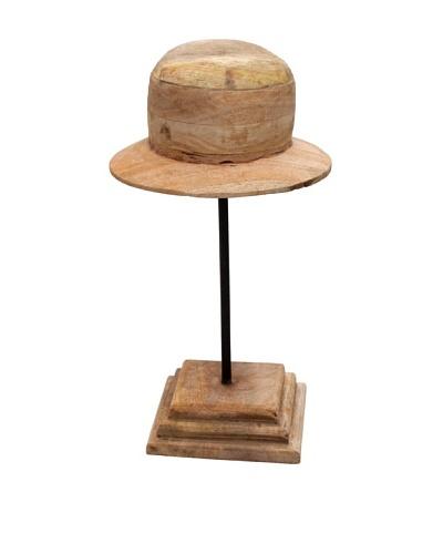 Edwin, Wood Hat Mold, Tan