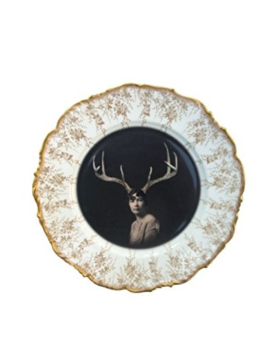 Deer Liza Portrait Limited Edition Antique Wall Plate
