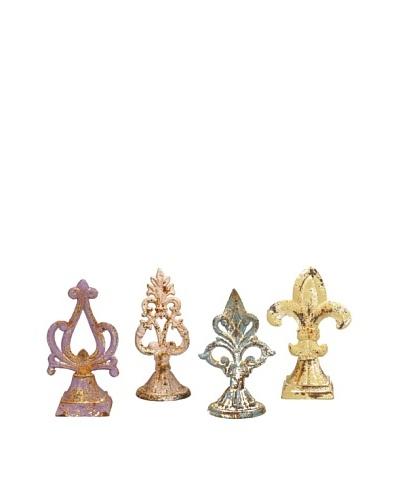 Set of 4 Assorted Santos Iron Finials