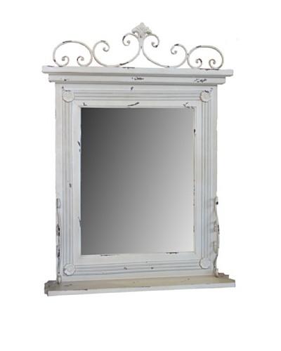 Whitewashed Wall Mirror