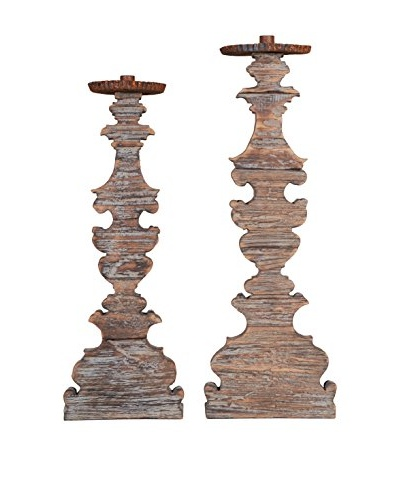Large Antiqued Candlestick