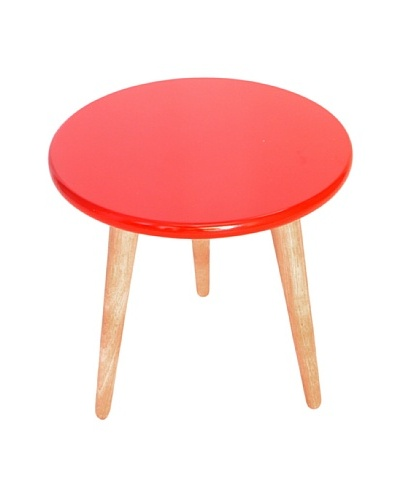 High Lacquer Stool, Red