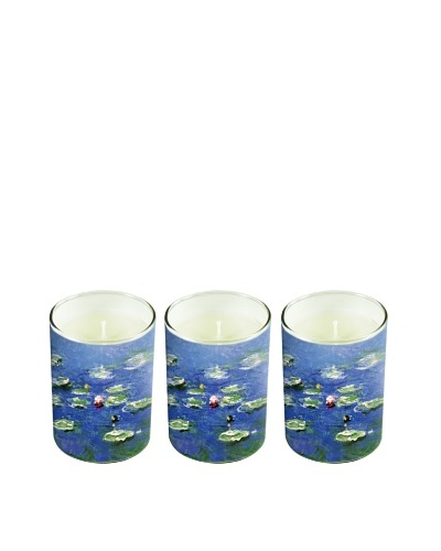 Set of 3 Monet Soy Candles