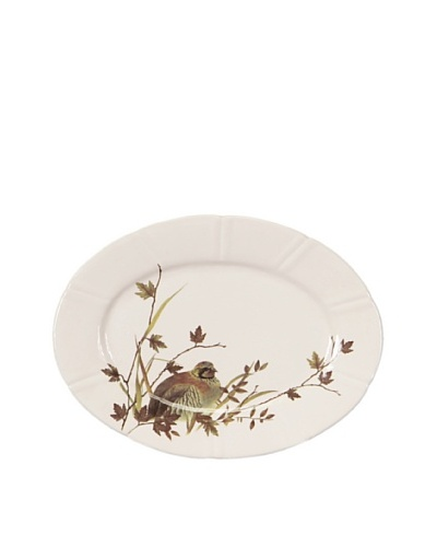 Melrose Partridge Oval Plate, Cream