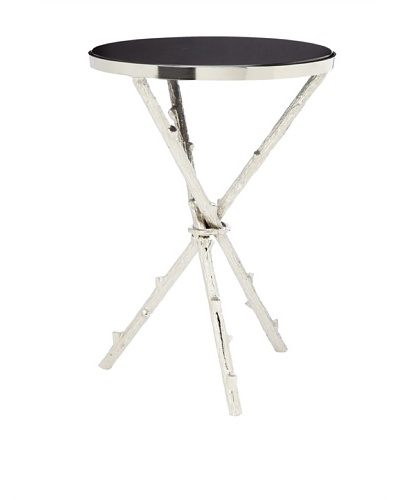 Nature Metal End Table, Black/Pewter
