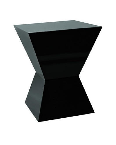 Trapezoid Shorter Square Column, Black