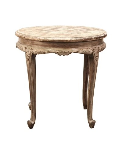 Livia Round Accent Table, Antique White