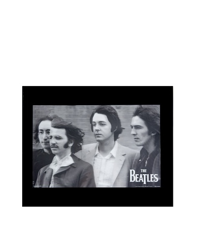 The Beatles FAB 4 Framed 3-D Hologram Poster
