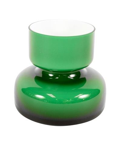 Mid-Century Imerco Polish Art Glass, Green/White