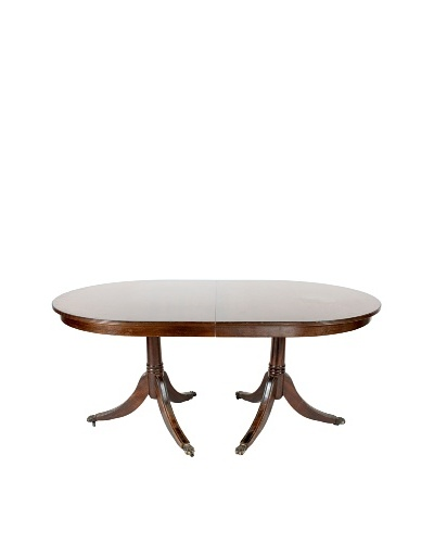 English Mahogany Dining Table, C.1940's