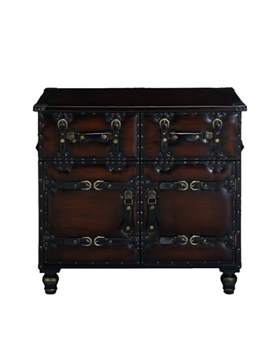 Wood & Faux Leather Chest